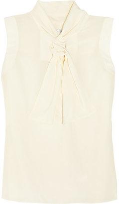 Oscar de la Renta for THE OUTNET Sleeveless silk top
