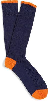 Corgi Chunky-Knit Ribbed Cotton Socks
