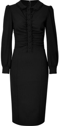 RED Valentino Valentino R.E.D. Black Lace Trimmed Dress