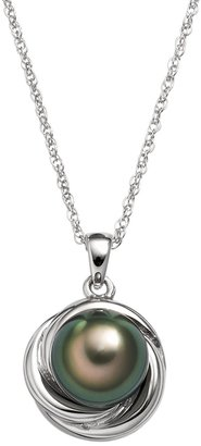 Sterling Silver Tahitian Cultured Pearl Twist Pendant
