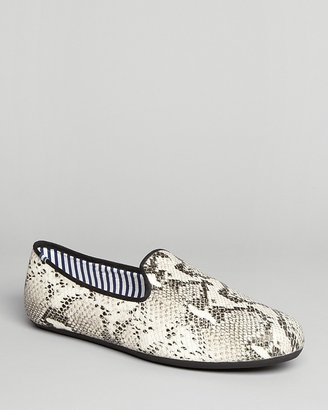 Charles Philip Constantino Snake Print Slip-On Loafers
