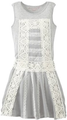 Design History Girls 7-16 Dress with pearl lace