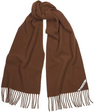 Acne Studios Holmes Chocolate Brushed Wool Scarf