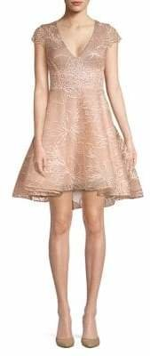 Occasion By Dex Embroidered Fit--Flare Dress