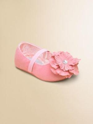 Stuart Weitzman Infant's Bud Blossom-Toe Flats