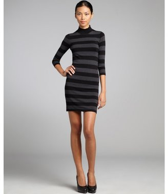 French Connection charcoal and black stripe 'Bambi' sweater dress