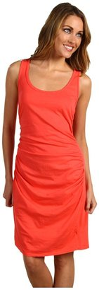 Michael Stars Scoop Neck Shirred Dress (Coral) - Apparel