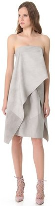 Donna Karan Strapless Origami Dress
