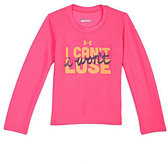 Under Armour 2T-6X I Won't Lose Waffle-Textured Tee