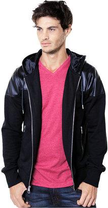 Ecko Unlimited Hoodie, Faux Leather Overlay Hoodie
