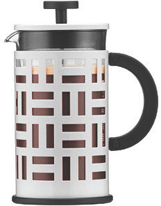 8-Cup Geometric Coffeemaker, White