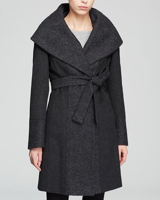 Calvin Klein Coat - Belted Wool Wrap $370 thestylecure.com