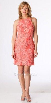 JS Boutique Racerback Sequined Lace Cocktail Dresses