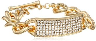 """Kenneth Cole New York """"Holiday Boxed"""" Crystal Colored Pave in Gift Box Identification Toggle Bracelet, 7.5"""""""