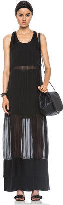 JONATHAN SIMKHAI Drew Silk Twist Back Dress