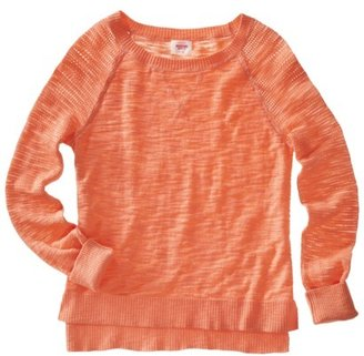 Mossimo Juniors Mesh Sleeve Raglan Sweater - Assorted Colors