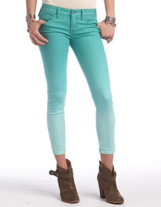 Free People Dip-Dye Cropped Skinny Jeans
