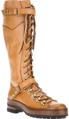 Santoni lace-up boot