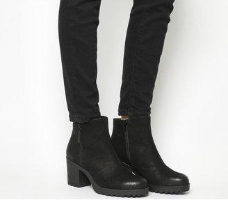 Vagabond Grace Zip Boots Black Nubuck