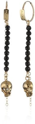 """Mima """"Aretes"""" Onyx and Gold-Plated Gold-Filled Earrings"""