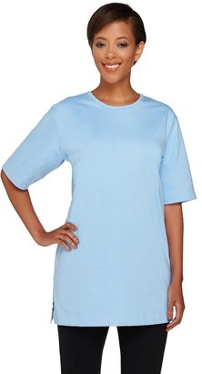 Denim & Co. Essentials Cotton Jersey Oversized Scoop Neck Tee