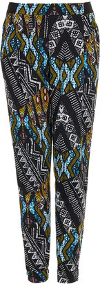 Topshop African Jersey Tapered Trousers