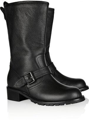 Giuseppe Zanotti Textured-leather mid-calf boots
