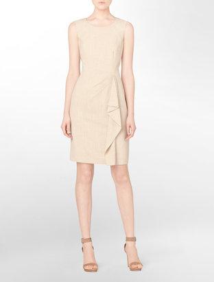 Calvin Klein Petite Heathered Lightweight Flannel Sheath Dress