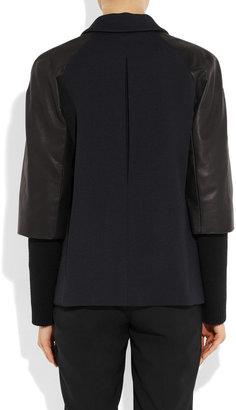 Jil Sander Mozart twill and leather jacket