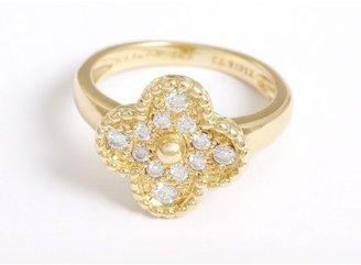 Van Cleef & Arpels excellent (EX) Vintage Alhambra Van Cleef and Arpels Diamond & 18k Yellow Gold sz. 6.5