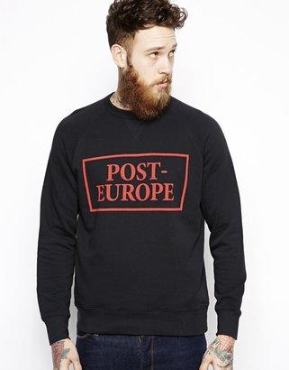 Wood Wood Sweatshirt with Post-Europe Print