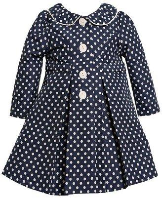 Bonnie Jean jacquard polka-dot coat and dress set - girls 4-6x