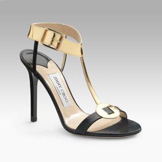 Jimmy Choo Latch T-Strap Sandals