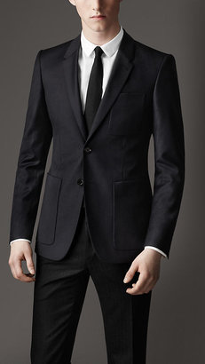 Burberry Modern Fit Patch Pocket Blazer