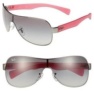 Ray-Ban 'Youngster' 32mm Metal Shield Sunglasses