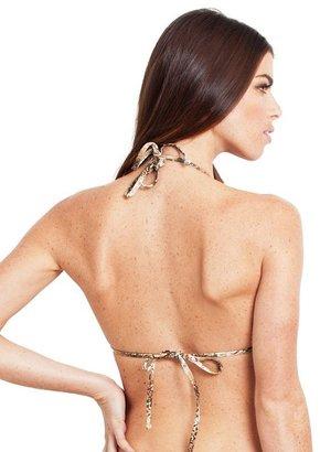 GUESS Sssizzle Triangle Bra Bikini Top