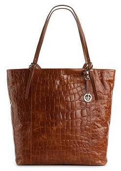 Audrey Brooke Soho Croco Leather Tote