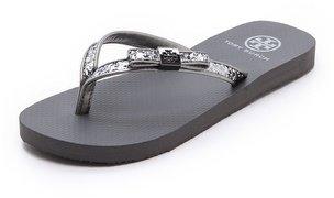 Tory Burch Carey Metallic Flip Flops