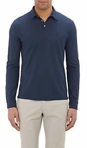 Zanone Men's Slub Polo Shirt - Navy