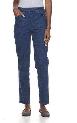 Croft & Barrow Pull-On Straight-Leg Stretch Jeans - Women's