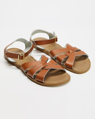 Saltwater Sandals - Women's Brown Flat Sandals - Womens Original Sandals - Size 8 at The Iconic