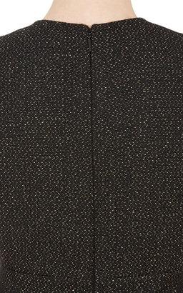 Saint Laurent Lamé Tweed Sleeveless Dress