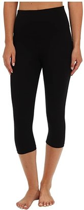 Yummie Talia Capri Cotton Shaping Legging (Black) Women's Casual Pants