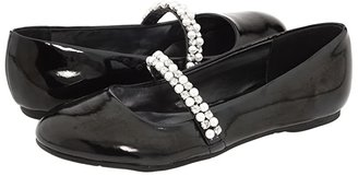 Nina Nataly (Little Kid/Big Kid) (Black Patent) Girl's Shoes