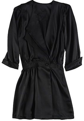 Grey Ant Fold Over Mini Dress