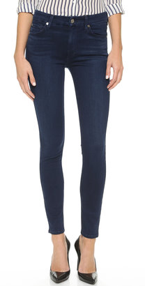 7 For All Mankind The Mid Rise Slim Illusion Luxe Skinny Jeans $198 thestylecure.com
