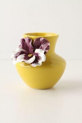 Anthropologie Pretty Pansy Vase