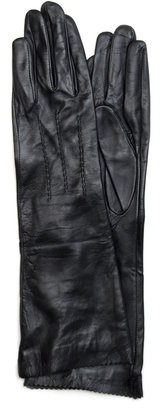 MANGO TOUCH - Long leather gloves