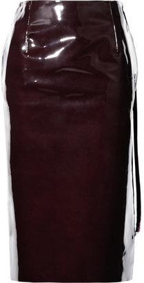 Maison Martin Margiela Patent-leather pencil skirt