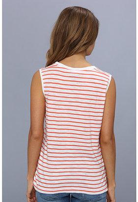 Calvin Klein Jeans Striped Crew Neck Pocket Tee